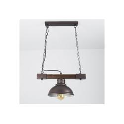 Licht-Erlebnisse Pendelleuchte HAKON Hängeleuchte Holz Metall Landhaus Pendelleuchte Küche Lampe