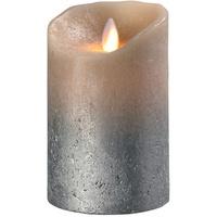 SOMPEX LED Echtwachskerze Flame 12,5 cm sand metallic