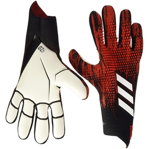 adidas Unisex-Adult Pred Gl Pro J Glove Liners, Black/Active Red, 9