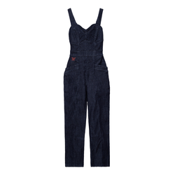 QueenKerosin Latzjeans blau Damen Jeans-Latzhosen Jeans