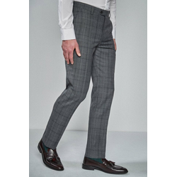 Next Anzughose Taillierter Anzug im Prince-of-Wales-Karo: Hose 29 - 96,5
