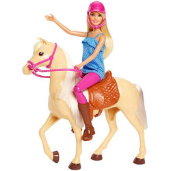Barbie Pferd & Puppe FXH13