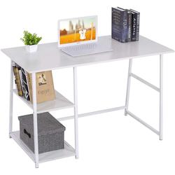 Woltu Schreibtisch, Moderner Schreibtisch mit zwei Ablagen