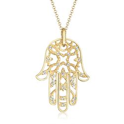 Elli PREMIUM Elli PREMIUM Halskette Hamsa Hand Kristalle 925 Silber
