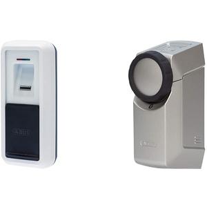 ABUS HomeTec Pro Bluetooth-Fingerscanner CFS3100 - Weiß + Bluetooth CFA3100 - Elektronisches Türschloss - Silber