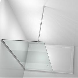 Home Deluxe Navaa 6 Duschtrennwand 90 x 190 cm Lotuseffekt Milchglasstreifen