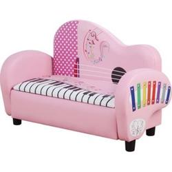 HOMCOM Kindersofa mit Stauraum rosa 75 x 38 x 50 cm (BxTxH)   Kids Minisofa in Klavierform Kinder Polstersofa