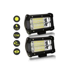 Einfeben LED Scheinwerfer LED Arbeitsscheinwerfer, 72W LED Zusatzscheinwerfer 12V 24V 27600LM Scheinwerfer für Traktor, Offroad, SUV, ATV, Auto Rückfahrscheinwerfer IP67, 6500K