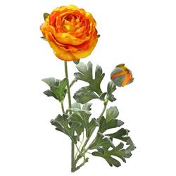 Kunstblume Ranunkeln Blüten & Knospen 1 Stk ca 40 cm orange Ranunkeln, matches21 HOME & HOBBY, Höhe 40 cm, Indoor orange