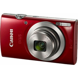 Canon IXUS 185 Superzoom-Kamera (20 MP, 8x opt. Zoom, Gesichtserkennung) rot