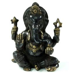 Guru-Shop Dekofigur Messingfigur Ganesha Statue 15 cm - Motiv 25