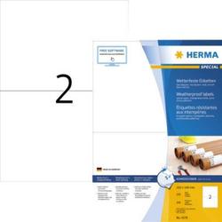 Herma 4378 Etiketten (A4) 210 x 148mm Papier, wetterfest Weiß 200 St. Extra stark haftend Wetterfes