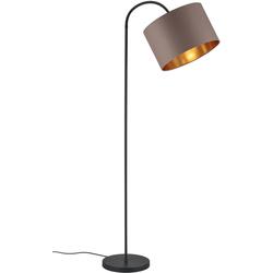 my home Stehlampe JOSIE, Stehleuchte mit flexiblem, schwenkbaren Schirm grau