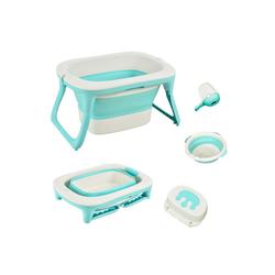 HOMCOM Babywanne Babybadewanne mit Waschbecken und Shampoobecher grün