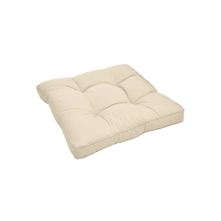 Beautissu Sitzkissen Xluna, Loungekissen Sitz 50x50x10cm natur 50 cm