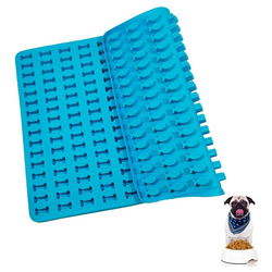 kueatily Backmatte Silikon-Backmatte Herzförmige Silikonmatte für Hundekekse blau