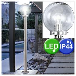 etc-shop LED Außen-Stehlampe, LED 4 Watt Außenleuchte Stehlampe Terrasse Gartenlampe Kugel IP44 Lampe Leuchte