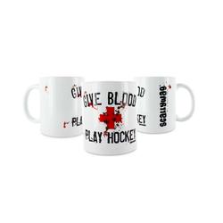 Eishockey Tasse GIVE BLOOD