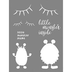 Rayher Dekor-Schablone little Monster grau