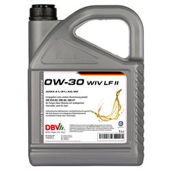 Motoröl DBV synthetisch WIV LF II 0W-30 5 Liter