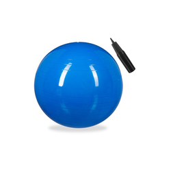 relaxdays Gymnastikball Gymnastikball 65 cm blau