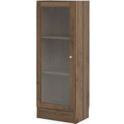 Regal Ablagen Dekor Walnuss Glas Holz Standregal Vitrine Bücherregal Wandregal
