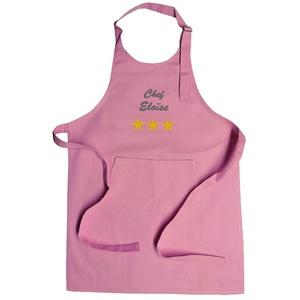 Kinderschürze 3 Sterne in rosa mit Vorname personalisiert