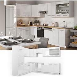 Vicco Küchenzeile Fame-Line Eckküche Winkel Küche Einbau Hochglanz