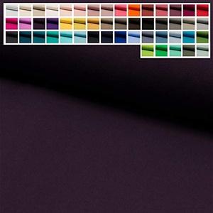 Jersey Stoff Uni Oeko-Tex Meterware ab 25 cm - einfarbiger Jersey in vielen Farben (17. Aubergine)