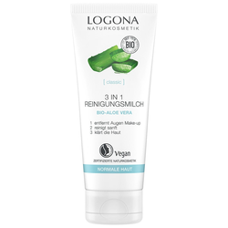 Logona 3in1 Reinigungsmilch Bio-Aloe Vera 100ml