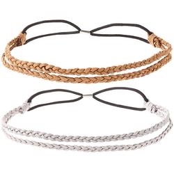 Haarband-2-er-Set, silber - silber