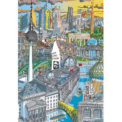 Educa Puzzle Citypuzzle Berlin, 200 Teile, Puzzleteile