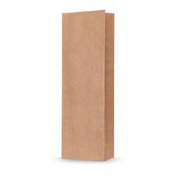 Blockbodenbeutel Natron Kraftpapier braun 70 + 40 x 205mm,  100 Stk.