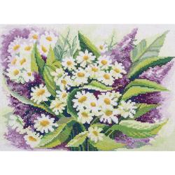 """Panna Kreuzstichset """"Wildblumen"""" 30,5x21,5cm, Zählmuster"""