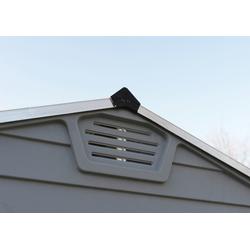 Palram Gerätehaus Skylight 6x10 silberfarben Gartenhäuser aus Metall Garten Balkon