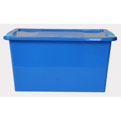 ONDIS24 Aufbewahrungsbox Aufbewahrungsbox mit Deckel Klipp Box L Lagerbox 34 Liter blau