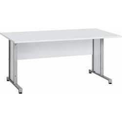 Maja Möbel Schreibtisch System, mit Kabeldurchlass in der Arbeitsplatte weiß