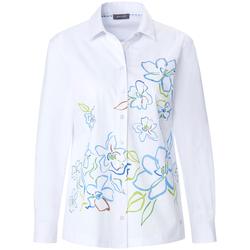 Hemdbluse mit Blumen-Print Basler white multicolour