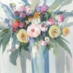 Ölbild Blumenstrauß Rosen Mix