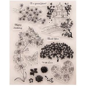 Vektenxi Blume transparent klar Silikon Stempel für DIY Scrapbooking Fotoalbum Dekor stilvoll