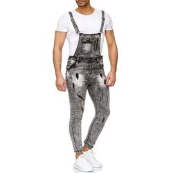 Egomaxx Slim-fit-Jeans 2626 Herren Latzjeans ARCHER W32