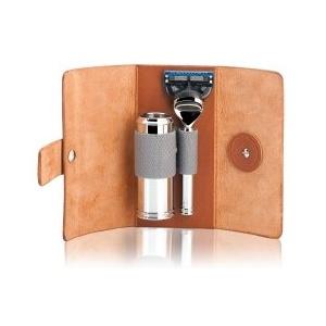 Mühle Accessoires Kulturtasche aus Rindsleder - klein Rasierset 1 Stk
