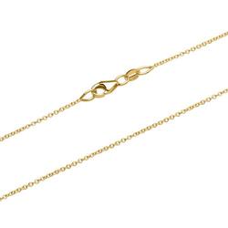Hochwertige Ankerkette aus 375er Gold