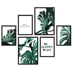 POSTORO Poster Monstera Green, Premium Poster Set