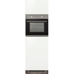 HELD MÖBEL Backofen/Kühlumbauschrank Virginia 200 cm hoch, 60 cm breit, Nische für Ofen B/H/T: 56/59/55 cm, Nische für Kühlschrank B/H/T: 56/88/55 cm, 2 Türen, hochwertige MDF-Fronten, griffloses Design weiß