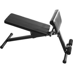 Verstellbare Sit Up / Hyperextension Hantelbank schwarz