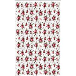 Abakuhaus Duschvorhang Badezimmer Deko Set aus Stoff mit Haken Breite 120 cm, Höhe 180 cm, Blumen Brautsträuße Rosen