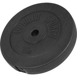 GORILLA SPORTS Hantel Hantelscheibe Kunststoff 10 kg, 10 kg