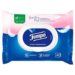 Tempo Feuchtes Toilettenpapier Sanft & Pur 1-lagig 42 Tücher