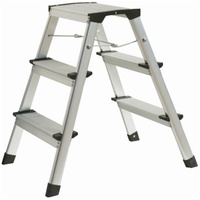 Atrox Aluminium Trittleiter 2 x 3 Stufen